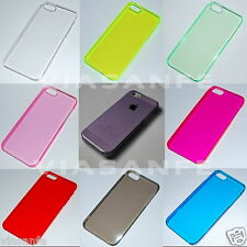 Cover Custodia Per iPhone 5S Crystal 9 Colori Trasparenti Rigida Ultra Slim Thin