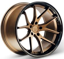 20x9/10.5 Ferrada FR2 5x115 +15 Bronze Wheels Fits Chrysler Dodge Charger Magnum