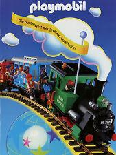 Prospekt Playmobil Große Spielbahn Broschüre Eisenbahn Modellbahn Lok 8/95 1995