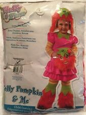 Child Polly Pumpkin & Me Furry Orange &Pink Costume Halloween Toddler Size 2T-4T