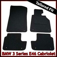 BMW 3-Series E46 Convertible 1998-2006 Tailored Carpet Car Floor Mats BLACK