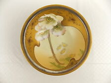 "Antique Hand Painted 10"" Bowl W A Pickard White Poppy #3136"