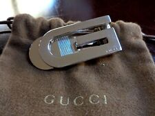 RARE VINTAGE!!! Authentic GUCCI G Stainless Steel Money Clip Wallet Cash Holder