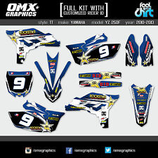 Yamaha YZF 250 4-stroke stickers decals graphics kit 2010 2011 2012 2013 TT