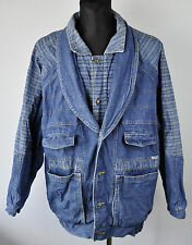 Vintage Mens Denim Jacket Size 2XL-3XL Double Collar Coat Vtg levis lee XXL XXXL