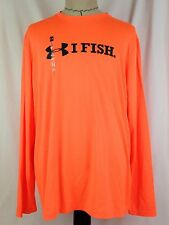 Under Armour I Fish Mens Tech Shirt XL Size Loose Fit Fishing UA 1271810 800