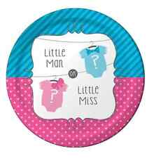 """Baby Shower Girl Or Boy Wafer Paper Topper For Large Cake Various Sizes 7.5"""""""