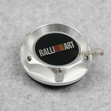 JDM RALLIART Silver Racing Engine Oil filler Cap Tank Cover Plug Fit Mitsubishi