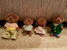 Sylvanian Families -Forest Brown Dog Family 1985