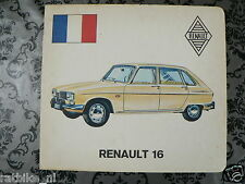 HARDCOVER BOARD 2 PICTURES RENAULT 16 AND BMW 2800