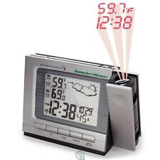 Projection Alarm Clock and Weather Monitor Large LCD Screen Atomic Easy to Read