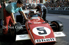 Clay Regazzoni Ferrari 312 B2 Monaco Grand Prix 1971 Photograph