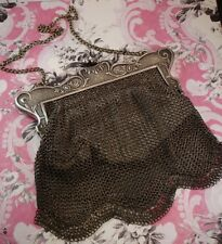 Gorgeous Antique Gun Metal Chatelaine 1900s Purse