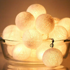LED Battery White Cotton Ball String Light Party Wedding Xmas Decor 1.2m