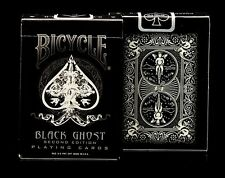 V007-2 New Rare Ellusionist Bicycle Black Ghost Playing Cards Magic Accessories