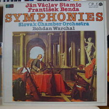 SLOVAK CHAMBER ORCHESTRA STAMIC/BENDA SYMPHONIES CZECH PRESS LP OPUS 1986