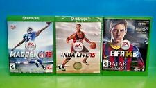 NFL Madden Football 16, NBA Live 15, Fifa Soccer 14  - XBOX ONE - Sports Games