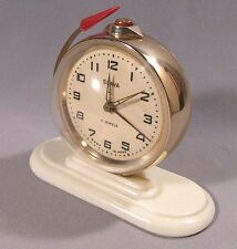 Alarm-Clock Mechanical Slava Russian 11 Jewel Space Old Vintage Rocket Soviet