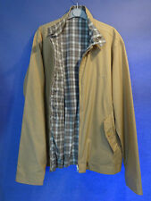 MENS SONNETI HARRINGTON REVERSIBLE BOMBER JACKET SIZE XL PLAID CHECK