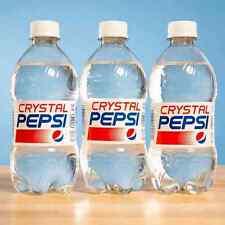 NEW! 6-Pack Crystal Pepsi 16fl oz Bottles - Contest Winner in 2015 Pepsi Drawing