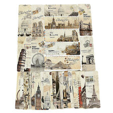 Paris Eiffel Tower Vintage Retro Paper Book Mark Bookmark Book Label X30