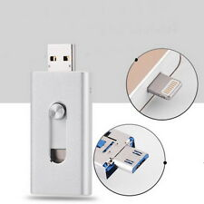 3 in1 Flash Drive USB U Disk Memory Stick OTG Thumb for iPhone Android Samsung