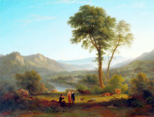At Matlock Mist Rising by John Glover A1+ Art Print