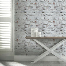 Arthouse Opera White Washed Brick Wallpaper 671100