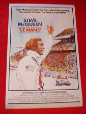 STEVE MCQUEEN LE MANS 24 HOUR RACE FRENCH CINEMA STICKER DECAL