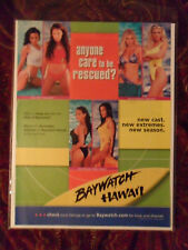 """2000 Print Ad TV Show Preview Promo """"Baywatch Hawaii"""" ~ Brande Roderick"""