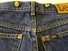 Vintage 80s Lee RIDERS 200 Suspender Button Indigo Denim Work Pants Jeans  29x31