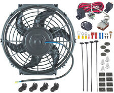 "10"" INCH ENGINE RADIATOR ELECTRIC FAN & ADJUSTABLE THERMOSTAT PROBE SENSOR KIT"