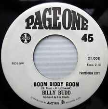 BILLY BUDD Boom diddy boom Sweet Lorraine 1968 MOD Beat rocker 45 PAGE ONE e6137