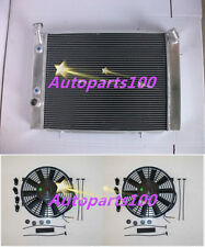 HOLDEN COMMODORE VB VC VH VK V8 79-85 AT/MT 3 ROW ALUMINUM RADIATOR + Two Fans