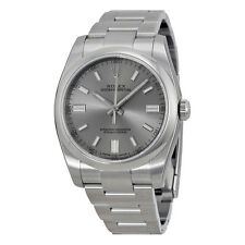 Rolex Oyster Perpetual Rhodium Dial Stainless Steel Mens Watch 116000RSO