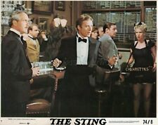 PAUL NEWMAN ROBERT REDFORD L'ARNAQUE THE STING 1973 VINTAGE LOBBY CARD #2