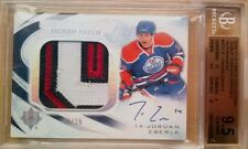 POP1 BGS 9.5 MINT /25 JORDAN EBERLE ULTIMATE DEBUT THREADS PATCH JERSEY AUTO