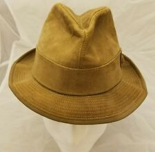 Suede and Leather fadora Hat 7 Knox New York USA *F