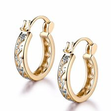 18k gold Platinum filled pop style party Charm shiny Huggie earring