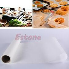 BBQ Nonstick Kitchen Grill Greaseproof Oven Baking Silicone Paper Roll 30cm x 5m