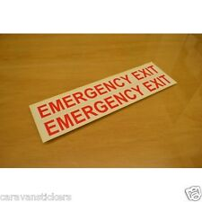 Car Window 'Emergency Exit' Sticker Decal Graphic - PAIR