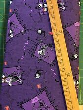 Tessuto di cotone FQ Quilting JACK Nightmare Before Christmas Viola