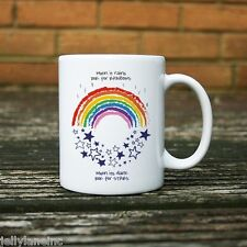When it Rains Look for Rainbows When its Dark Look for Stars Mug 11oz, Ceramic