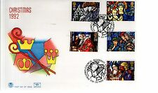 First Day Cover - 1992 CHRISTMAS - Unaddressed - Allerton Liverpool