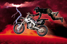 "MOTO CROSS RED POSTER  - OFF-ROAD MOTORCYCLE RACING  - LARGE 24"" X 36"""