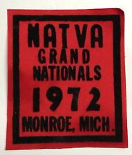 NATVA GRAND NATIONAL CLOTH PATCH-1972 MONROE MI  ATTEX,HUSTLER,MAX,SCRAMBLER