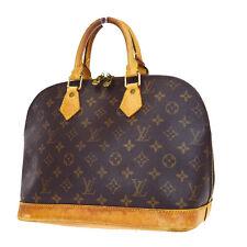 Auth LOUIS VUITTON Alma Hand Bag Monogram Canvas Leather Vintage M51130 04W159