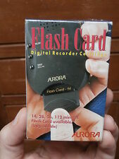 FLASH CARD 112 minuti REGISTRATORE AUDIO VOICE RECORDER Aurora VR 1400 MEMORIA