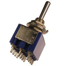 MIYAMA MS-500R Kippschalter 4-polig EIN-AUS-EIN Schalter 4xUM 6A 125V AC 090010