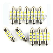 10PCS 36mm 6 SMD 3W LED NUMBER PLATE INTERIOR DOME LIGHT FESTOON BULB 12v  WHITE